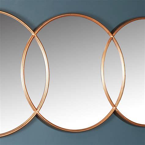 Copper Circle Wall Mirror 150cm X 45cm Melody Maison