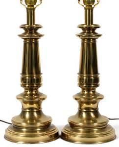 stiffel brass table lamps pair h 24 quot lot 50123