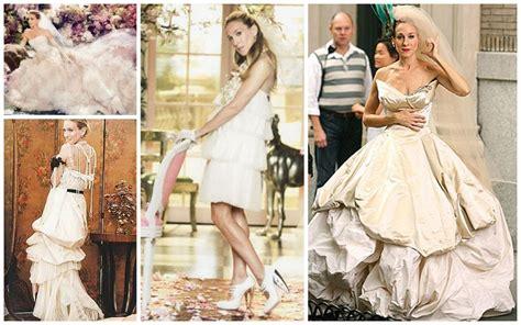 sex   city carrie bradshaw wedding dress  vogue
