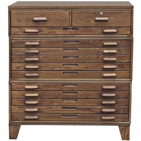 flat file cabinet thirteen drawer oak flat file cabinet on legs at 1stdibs