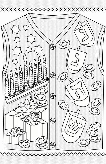 Coloring Adult Dover Ugly Sweater Colouring Sheets