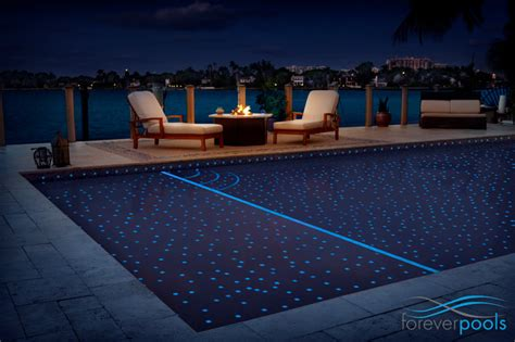 starry glass tile pool modern pool miami by