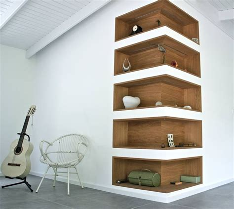 small space solution wall niche shelves interiorholiccom