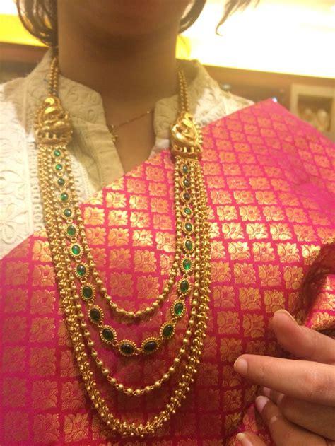 simple  outstanding temple jewellery  elegant