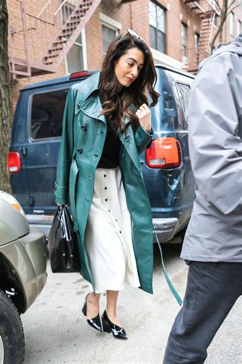 amal clooneys green leather jacket lainey gossip lifestyle