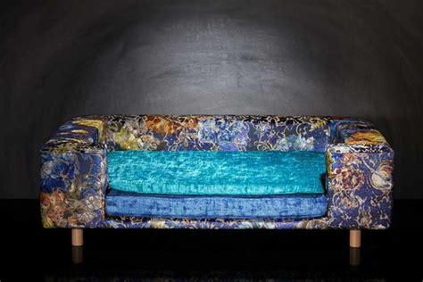 canapé pour chien grande taille canapé de luxe pour chien le couture palace bleu