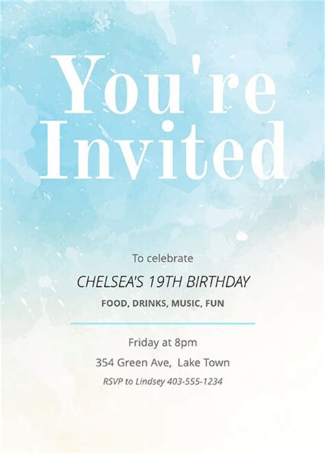 invitation card templates examples lucidpress