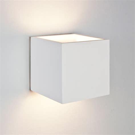 astro pienza square cube ceramic plaster wall light 60w