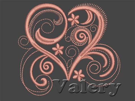 heart  machine embroidery design