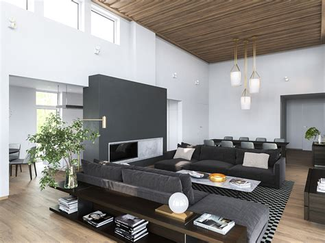 modern homes pictures interior 3 modern homes in many shades of gray
