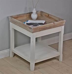 Beistelltisch Weiß Landhaus : couchtisch tisch beistelltisch wei braun landhaus holztisch holz robust neu ebay ~ Sanjose-hotels-ca.com Haus und Dekorationen