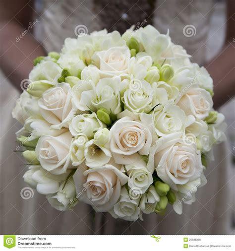 wedding bouquet  pink  white roses stock photo