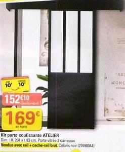 Porte Coulissante Atelier Castorama : porte coulissante atelier bricorama le bois chez vous ~ Melissatoandfro.com Idées de Décoration