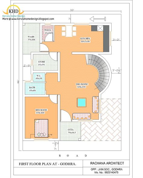 duplex house elevation kerala home design  floor plans  houses