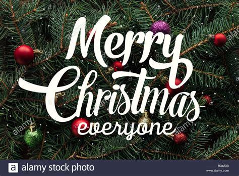 Merry Christmas Everyone Stock Photos & Merry Christmas