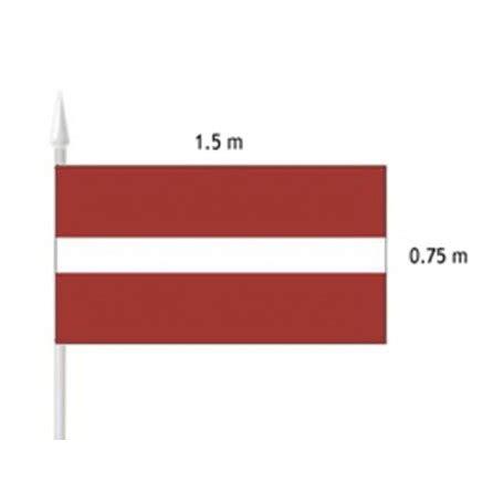 Latvijas valsts karogs (fasādei) 1.5x0.75m