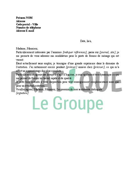 cherche emploi menage bureau lettre de motivation pour femme de m 233 nage pratique fr