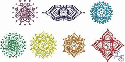 Chakra Symbols Seven Chakras Embroidery Designs Machine