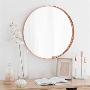 Miroir Cuivre Rose : miroir en m tal cuivr d 55 cm cassy maisons du monde ~ Melissatoandfro.com Idées de Décoration