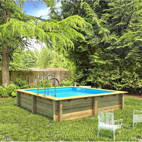 piscine hors sol bois weva proswell l 3 5 x l 3 5 x h 1 2 m leroy merlin