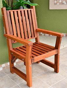 Massive, Wooden, Dining, Chair, Custom, Made, From, Redwood