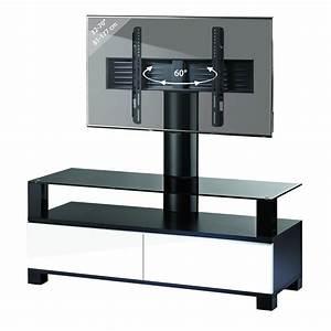 Meuble Haut Tv : meuble tv blanc haut id es de d coration int rieure french decor ~ Teatrodelosmanantiales.com Idées de Décoration