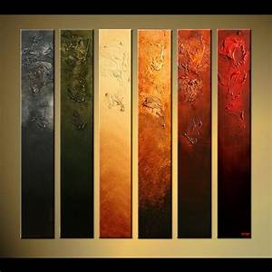 Abstract painting narrow vertical canvases home decor