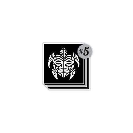 lot de  pochoirs tortue maori pour tattoo temporaire