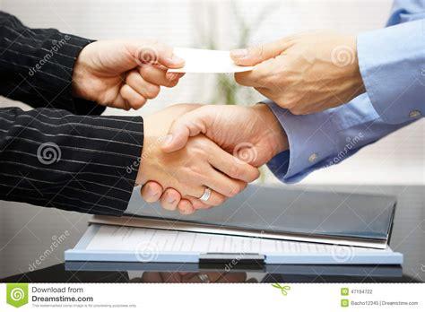 bureau d echange les clients d 39 affaires sont carte de visite