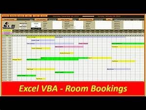 Calender In Excel Hotel And Room Bookings Vba Excel Youtube