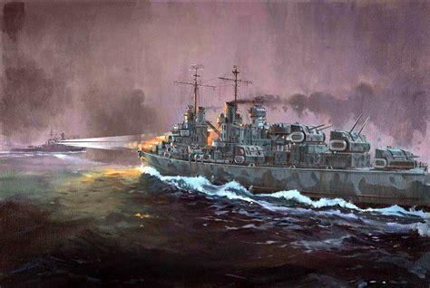 Ship War by Battleship War Battle Ship Boat Military Art Painting T