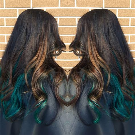 25 Best Ideas About Teal Hair Highlights On Pinterest