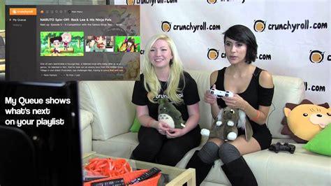 crunchyroll ps3 app demo with cristina vee youtube