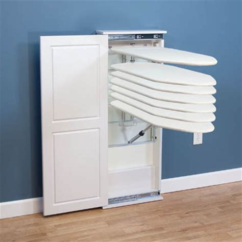 Iron Board Cupboard by Iron N Fold Floor Standing Cabinet Ironing Board White