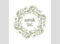 Watercolor floral leaf vine wreath vector frame by Jallom