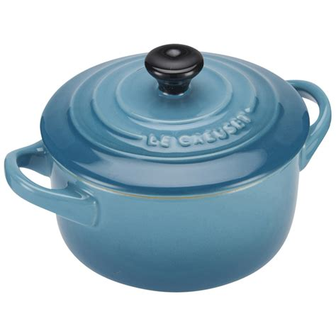le creuset light blue casserole dish le creuset stoneware petite casserole dish teal iwoot