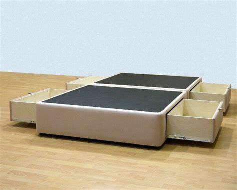 platform bed  storage drawers uphostered storage bed