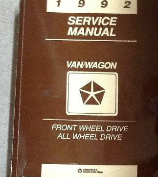 car repair manual download 1992 dodge ram van b150 engine control 1992 dodge ram van wagon caravan service repair shop workshop manual fwd awd ebay
