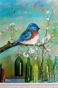 Blue Bird Acrylic Painting