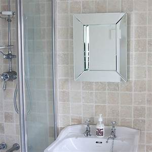 Deep all glass bathroom mirror by decorative mirrors for Bathroom morrors