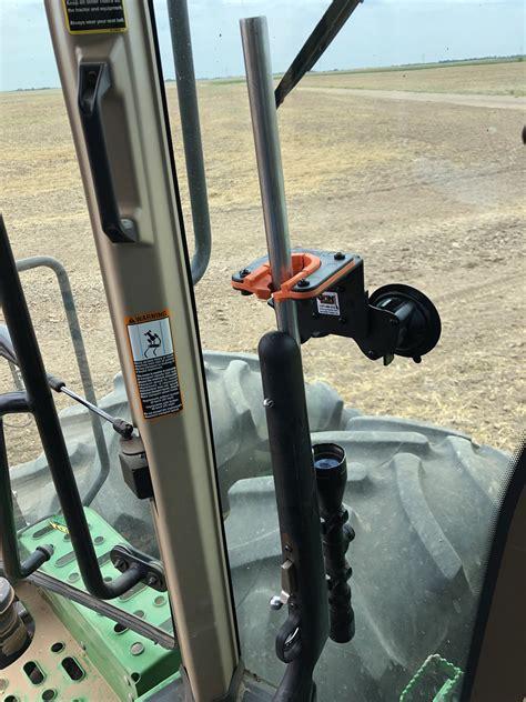 enclosed glass tractor  combine gun rack  rubber butt utv gun racks