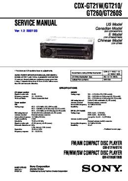 Sony Cdx Gt07 Wiring Diagram Color by Solve Sony Cdx Gt100 Problem