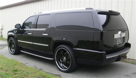 Josh Howard Blacked-out Cadillac Escalade Esv
