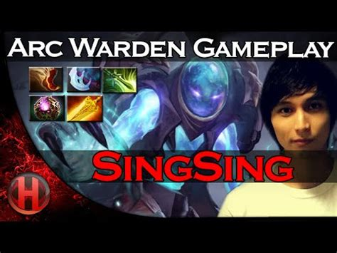 singsing arc warden cancer gameplay dota   patch youtube
