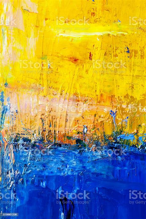 abstract painted blue  yellow art backgrounds stock