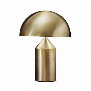 Lampe De Table Exterieur : oluce lampe de table atollo moyenne ext rieur or ~ Teatrodelosmanantiales.com Idées de Décoration