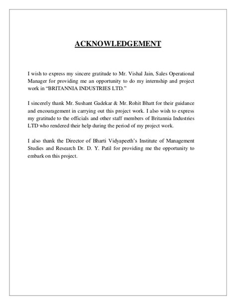 sample acknowledgement  research project
