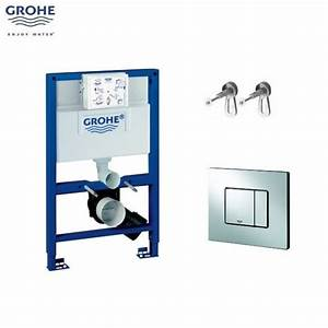 GROHE Rapid SL 0 82m 3 in 1 WC Set 38773 c/w Bloque Wall Hung Toilet Pan and SC Seat