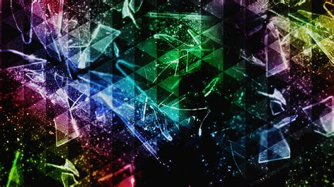 abstract colorful triangle shattered broken glass wallpapers hd desktop  mobile backgrounds