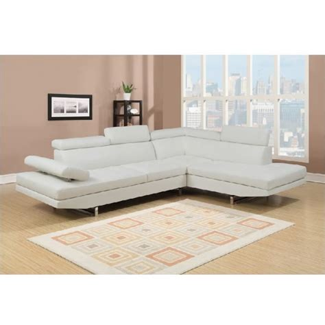 canap en blanc canapé d 39 angle en simili cuir blanc rubic achat vente